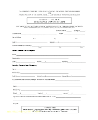 Contact Information Update Form Template Word On Profile