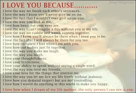 I Love You Because Quotes Extraordinary I Love You Because Quotes Love Quotes Today
