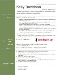 Medical Resume Template Impressive TOP 28 Medical Assistant Resume Templates 28