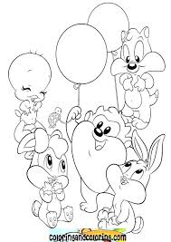 Looney Tunes Coloring Sheets Baby Tunes Coloring Pages Baby Looney