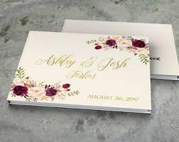 Wedding Guest Books Etsy