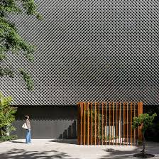 beamsderfer bright green office. Office Facades. Bernardes Arquitetura Completes Rio Block Fronted By Perforated Metal And Plants Facades Beamsderfer Bright Green O