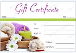 now 50 spa gift certificate designs to try this season top template collection