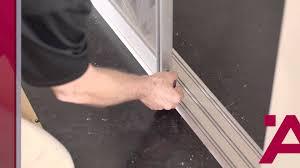 aluflex sliding door installation guide 7of 7 track cleaning brush