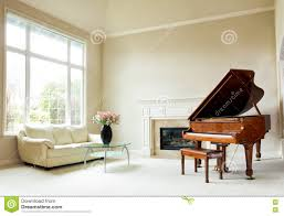 Light Living Room Interior Of Light Living Room With White Piano Royalty Free Stock