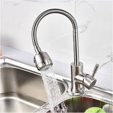 2018 304 stainless steel kitchen faucet mixer 360 swivel spout single handle kitchen sink tap basin