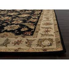 jaipur rugs mythos 12 x 18 hand tufted wool rug in black and taupe