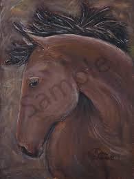 bay horse head original paintings fine art and paintings for by teena stewart of serendipitini studio