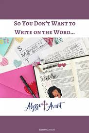 is journaling a word so you dont want to write on the word alyssa avant christian