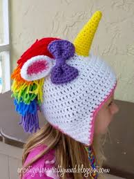 Image result for crochet unicorn hat pattern