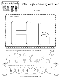 Color pictures, email pictures, and more with these alphabet coloring pages. Letter H Coloring Worksheet Free Kindergarten English Worksheet For Kids