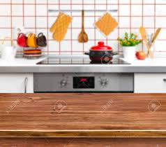 Wood Texture Table On Kitchen Bench Background Stock Photo Picture