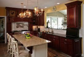 cherry cabinets and granite countertop