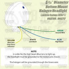 diameter chrome bottom mount halogen headlight cycle standard 5 3 4 inch diameter chrome bottom mount halogen headlight
