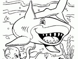Small Picture Shark Coloring Pages To Print Interesting Download Shark Coloring