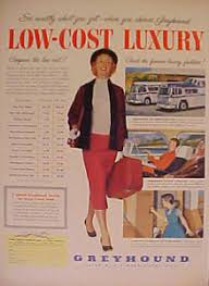 Trip Planner Cost 1955 Greyhound Dog Logo Buses Low Cost Luxury Bus Travel Trip