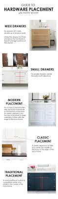 cabinet hardware placement guide from studio mcgee