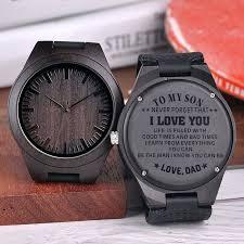 engraved watches for boyfriend wooden watch men anniversary gifts