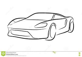 Car Outline Design Exotic Car Outline Stock Vector Illustration Of Exotic