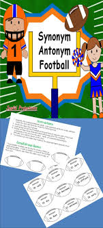 17 best images about learning styles common cores synonym and antonym football classroom vocab activity