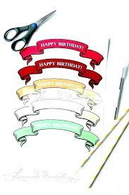 Happy Birthday Cupcake Banner Printable Cake Bunting Template
