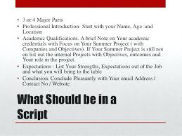sample script for video resume script would impact your image negatively 8 sample  script video resume