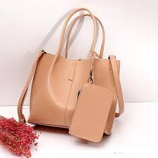 blush cowhide leather large tote bags with wallet