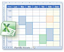 formato cronograma de actividades mensual plantillas horario en formato excel