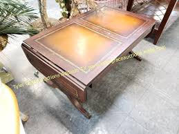 Duncan phyfe style side table. Vtg Duncan Phyfe Executive Leather Coffee Table Tyler Grace Auctions