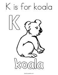 Small Picture K is for koala Coloring Page Twisty Noodle