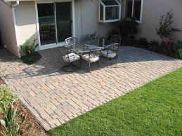 ... Inspirinh Gray Square Terrific Brick Decorative Flowers And Chairs Ideas:  inspiring cheap patio ...