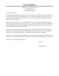 Best Professor Cover Letter Examples Livecareer