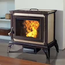 Hearthstone Heritage 8091 Pellet Stove in Brown Enamel. Available at  Higgins Energy Alternatives in Barre, MA.
