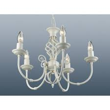 cream classic ceiling light chandelier 5 arm twisted scroll fitting 46cm zoom