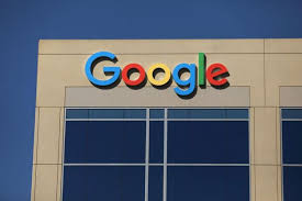 google office irvine 1. the google logo is pictured atop an office building in irvine california us august 1