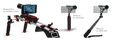 iphone video accessories. shoulder mount, pistol grip, and selfie stick with iphone 6 exolens for photography iphone video accessories h