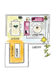 Open Plan Layout Tips From Shannon Vos Kitchen Floor L Shaped Q Dx Y: ...