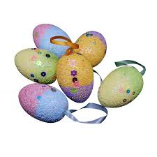 <b>6PCS</b> Lovely Foam <b>Easter</b> Eggs Hanging <b>Decoration</b> Home Shop ...