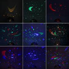 Night Stars Bedroom Lamp Upgrade Mokoqi Modern Rotating Moon Sky Projection Led Night