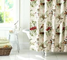 pottery barn shower curtain winter bird shower curtain domestic goodness outdoor themed shower curtains pottery barn
