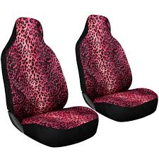 car seat covers girly pink for auto cheetah leopard animal integrated head rest