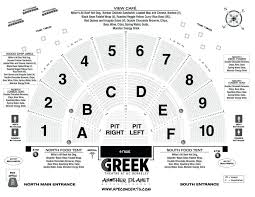 40 Actual Greek Theatre Seating Chart With Seat Numbers