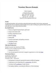 Resume of the translator