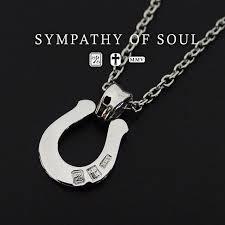 sympathy of soul necklace horseshoe large pendant silver necklace set mens womens uni sympathy of soul pendant choker accessory