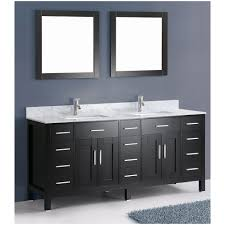 ace contemporary 72 inch double sink bathroom vanity black finish set