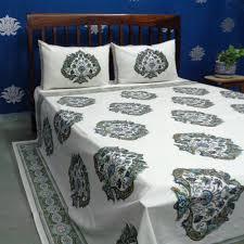 kalamkari indian hand block printed queen size 100 cotton bedspread