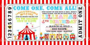 Circus Party Invitation Classy Circus Ticket Birthday Party Invite Dimple Prints Shop
