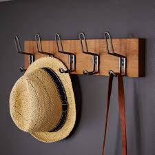 Multi Hook Coat Rack Cool Industrial Hook Rack West Elm