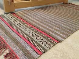 vintage rag rug from missouri