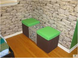 Minecraft Bedroom In Real Life Cute Double Chairs Minecraft Design For Kid Bedroom Furniture